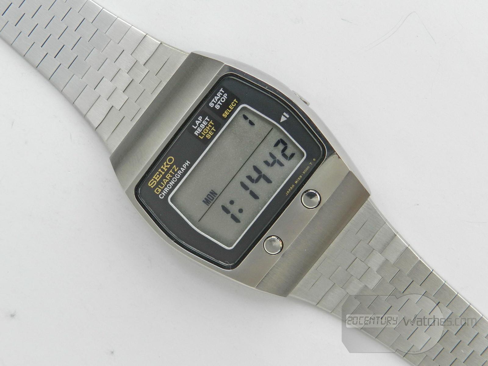 Seiko Quartz Chronograph LCD