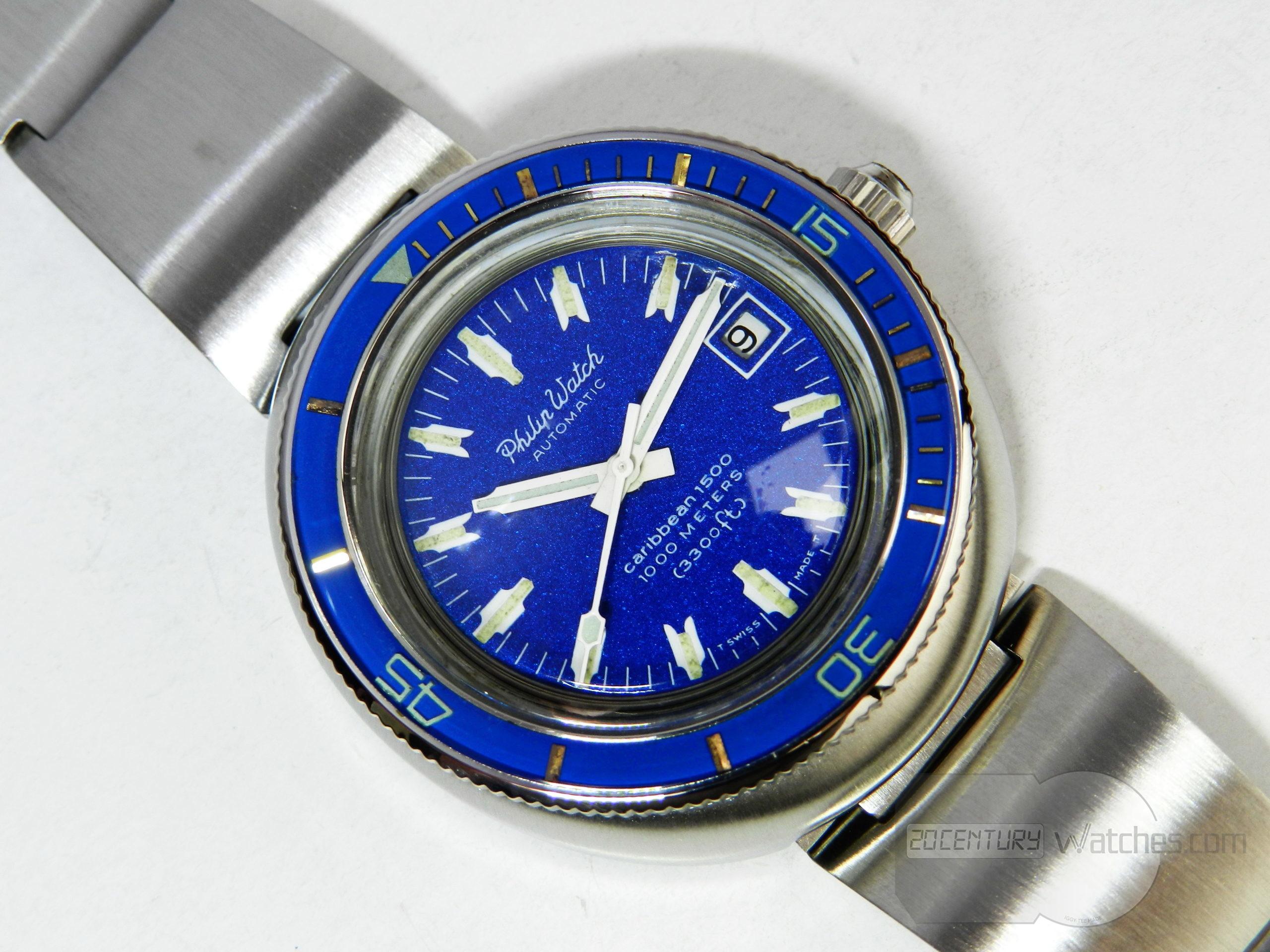 Philip Watch Caribbean Blue
